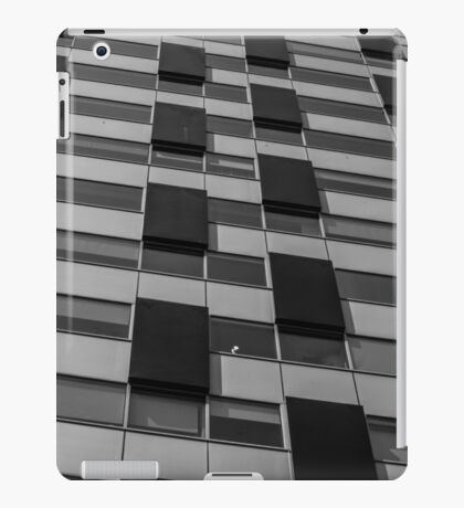 Rectangles abstract in black and white iPad Case/Skin