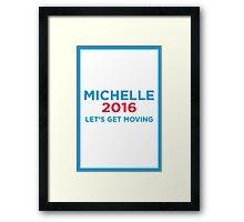 Michelle 2016 Blue Framed Print