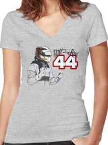 Lewis Hamilton - Still I Rise Women's Fitted V-Neck T-Shirt
