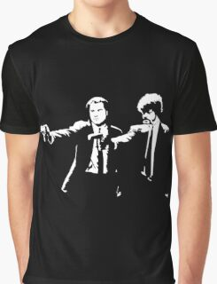 John and Samuel with the gun says hands up Pulp Graphic T-Shirt