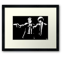John and Samuel with the gun says hands up Pulp Framed Print