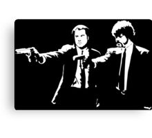 John and Samuel with the gun says hands up Pulp Canvas Print