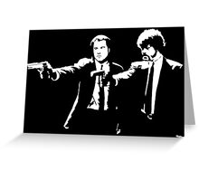 John and Samuel with the gun says hands up Pulp Greeting Card