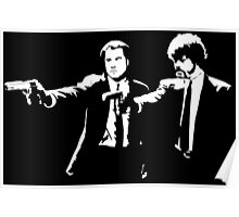 John and Samuel with the gun says hands up Pulp Poster