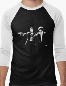 John and Samuel with the gun says hands up Pulp Men's Baseball ¾ T-Shirt