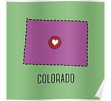 Colorado State Heart Poster