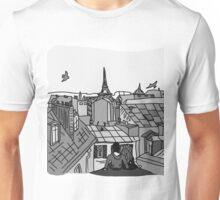 Paris, black and white Unisex T-Shirt