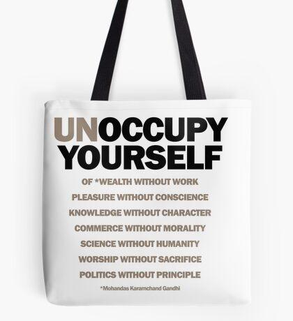 unoccupy yourself (version 2) Tote Bag