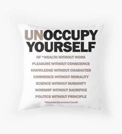 unoccupy yourself (version 2) Throw Pillow
