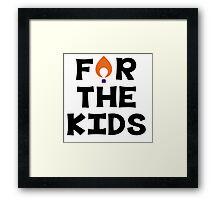 For The Kids--Clemson University Framed Print