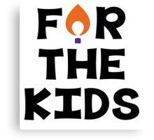 For The Kids--Clemson University Canvas Print
