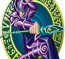 dark magician yugioh by diggydude