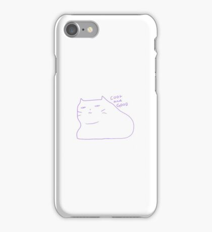 Cool and Good - catblubs iPhone Case/Skin