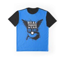 Real Trainers Wear Blue Graphic T-Shirt