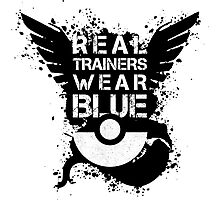 Real Trainers Wear Blue Photographic Print