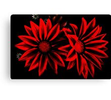 Red&Black Flowers Canvas Print