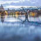 Millenium Bridge at Sunrise - London by Paul Campbell  Photography