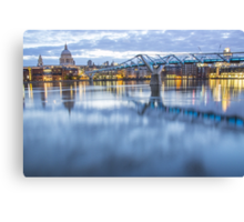 Millenium Bridge at Sunrise - London Canvas Print