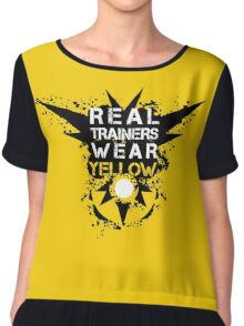 Real Trainers Wear Yellow Chiffon Top