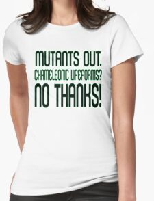 MUTANTS OUT. Womens Fitted T-Shirt