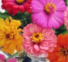 Zinnia Blooms Still Life Sticker