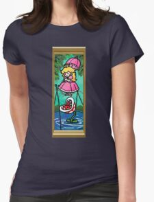 Mario Meets the Mansion Womens Fitted T-Shirt