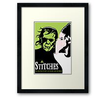 Stitches Framed Print