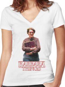 Barb Stranger Things Women's Fitted V-Neck T-Shirt