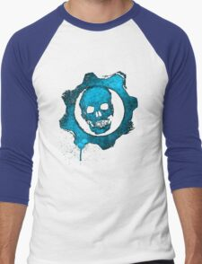 Blue skull gear Men's Baseball ¾ T-Shirt