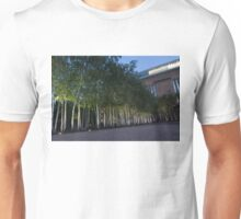 Modern Birch Garden in Front of Tate Modern Art Gallery, London Unisex T-Shirt