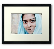 A Girl From Allahabad Framed Print