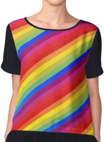 Rainbow Nation - Pride, Love, Peace, Rainbows, Colorful Design Chiffon Top