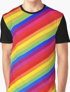 Rainbow Nation - Pride, Love, Peace, Rainbows, Colorful Design Graphic T-Shirt
