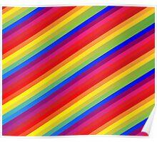 Rainbow Nation - Pride, Love, Peace, Rainbows, Colorful Design Poster