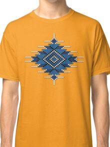 Blue Native American-Style Sunburst Classic T-Shirt