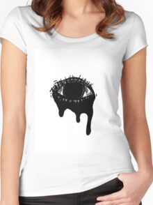 Eye #1  Women's Fitted Scoop T-Shirt