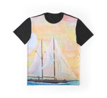 Rob Gamble's Sailing Oswego's Lake Ontario N.Y. copy right 2015 Graphic T-Shirt