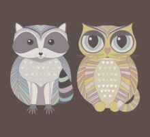 Raccoon & Cat Kids Clothes