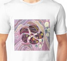 Abstract Rain on Floral Unisex T-Shirt