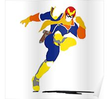 Captain Falcon Blocky Poster