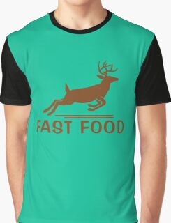 Fast Food Funny Hunter Graphic T-Shirt