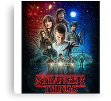 Stranger Things Tv Show Canvas Print