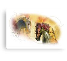 Graphic carousel horses Canvas Print
