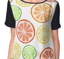 Citrus Fruit Slices Chiffon Top