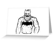 Old Man Batman Greeting Card