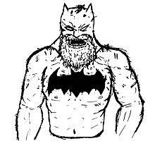 Old Man Batman Photographic Print