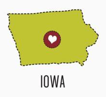 Iowa State Heart One Piece - Short Sleeve