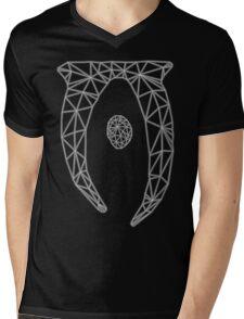 80's Cyber Oblivion and Skyrim Elder Scrolls Logo Mens V-Neck T-Shirt