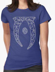 80's Cyber Oblivion and Skyrim Elder Scrolls Logo Womens Fitted T-Shirt
