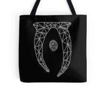 80's Cyber Oblivion and Skyrim Elder Scrolls Logo Tote Bag